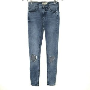 NEW Free People Busted Knee High Waist Skinny Jean